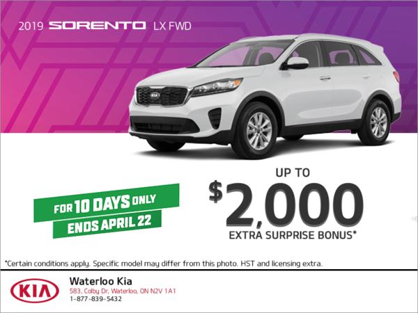 Get the 2019 Kia Sorento