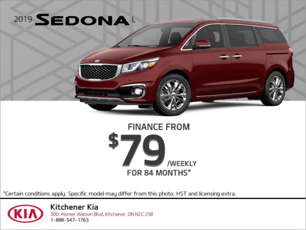 Finance the 2019 Kia Sedona!