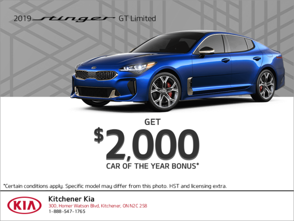 Get the 2019 Kia Stinger!
