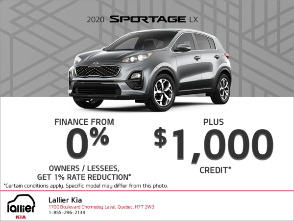 Finance the 2020 Kia Sportage
