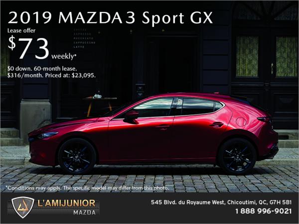 Get the 2019 Mazda3 Sport!