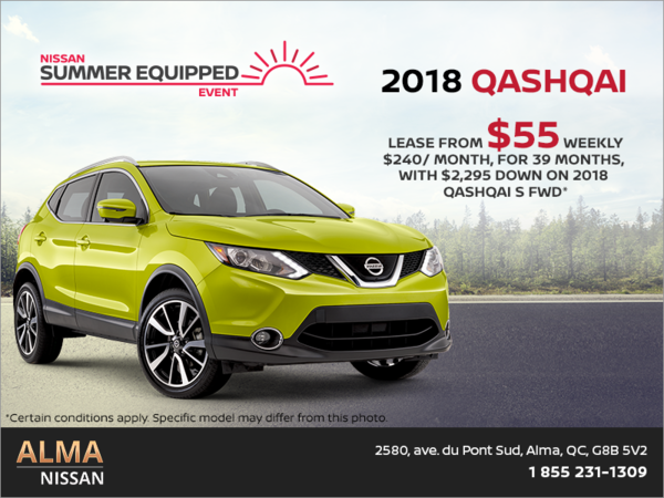 Lease the 2018 Nissan Qashqai!
