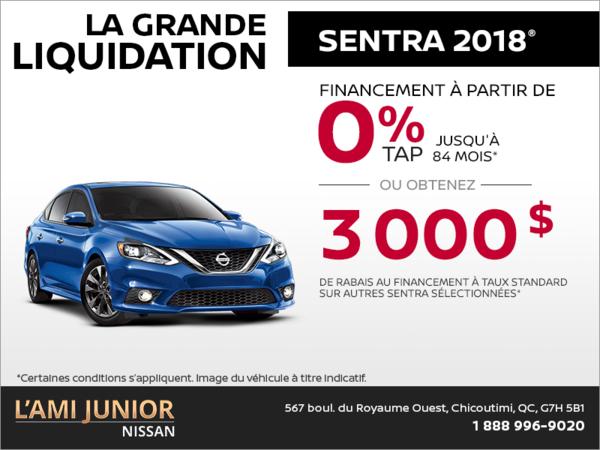 La Nissan Sentra 2018