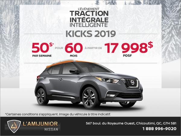Obtenez le Nissan Kicks 2019 dès aujourd'hui!