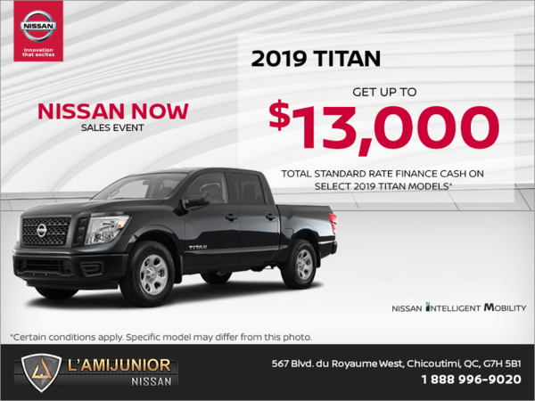Get the 2019 Nissan Titan Today!