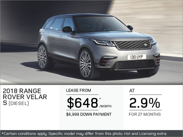 The 2018 Range Rover Velar