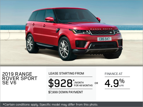The 2019 Range Rover Sport SE V6