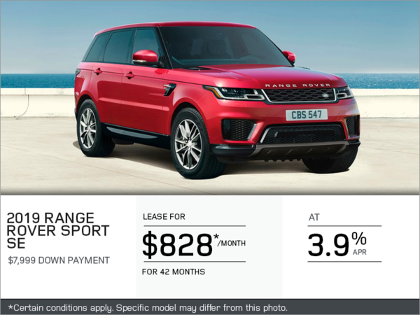 The 2019 Range Rover Sport SE