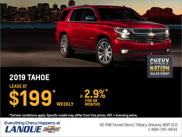 Lease the 2019 Chevrolet Tahoe