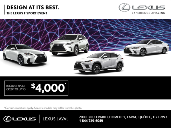 Design at its Best. The Lexus F Sport Event.