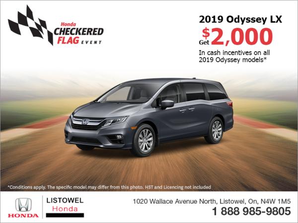 Get the 2019 Honda Odyssey!