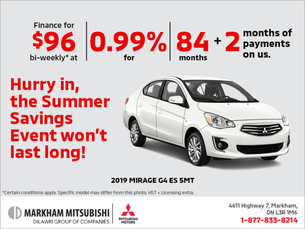 The 2019 Mitsubishi Mirage G4