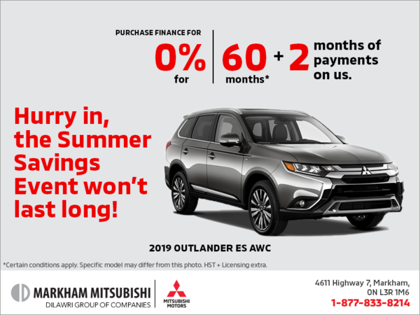 The 2019 Mitsubishi Outlander