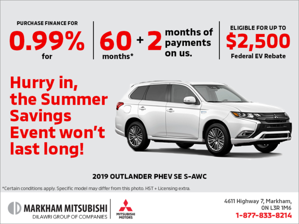 The 2019 Mitsubishi Outlander PHEV