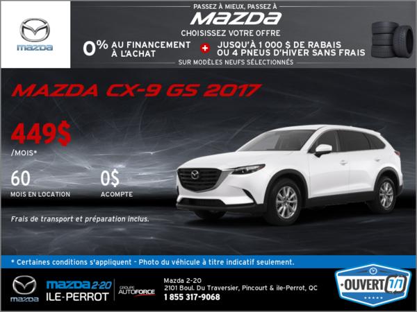 La toute nouvelle Mazda CX-9 GS 2017!