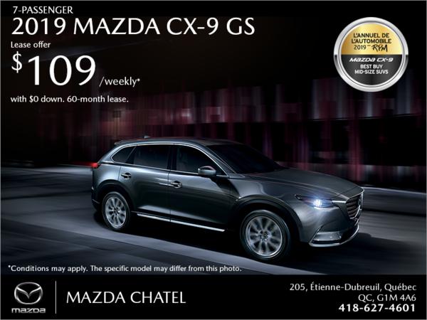Get the 2019 Mazda CX-9!