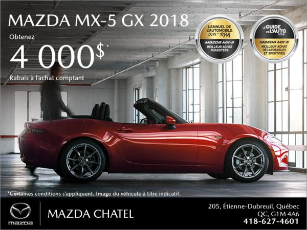 Procurez-vous la Mazda MX-5 2018!