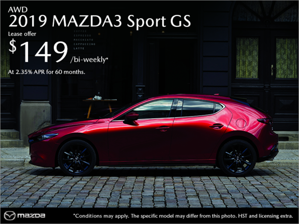 Get the 2019 Mazda3 Sport Today!