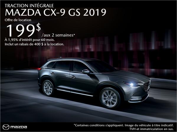 Procurez-vous la Mazda CX-9 2019 aujourd'hui!