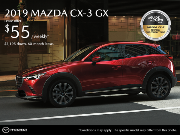 Mazda Pointe-aux-Trembles - Get the 2019 Mazda CX-3!