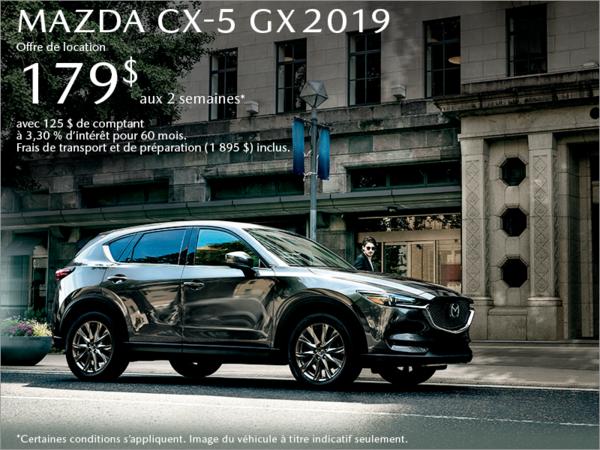 Procurez-vous le Mazda CX-5 2019 aujourd'hui!
