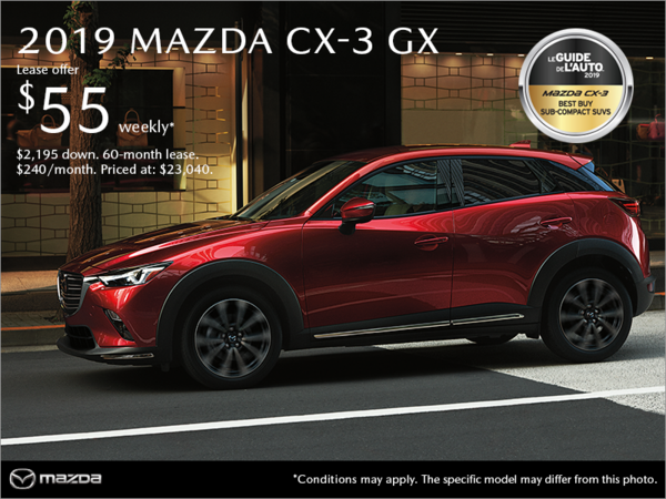 Mazda Drummondville - Get the 2019 Mazda CX-3!