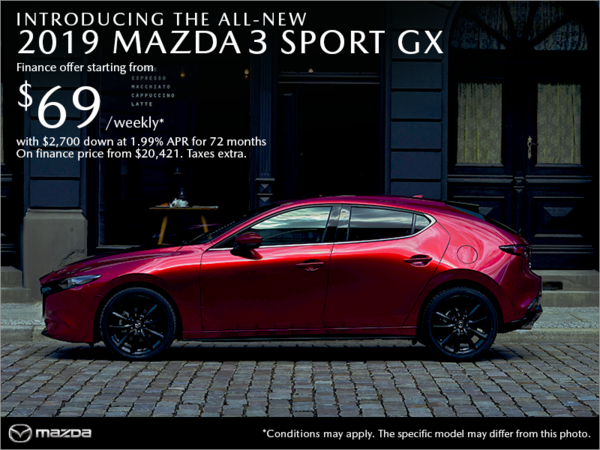 Forman Mazda - Get the 2019 Mazda3 Sport today!