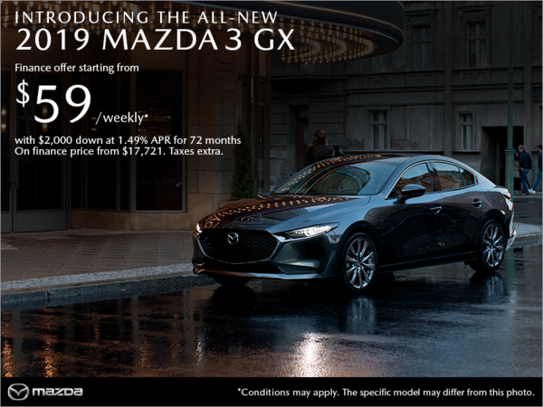 Forman Mazda - Get the 2019 Mazda3 today!