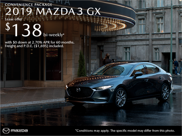 Get the 2019 Mazda3 Today!