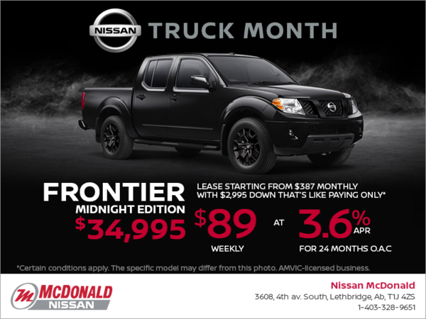 Get the 2018 Nissan Frontier Today!