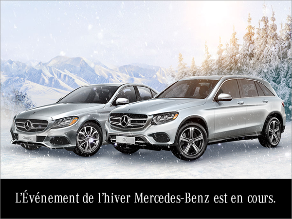 L'événement de l'hiver Mercedes-Benz est en cours.