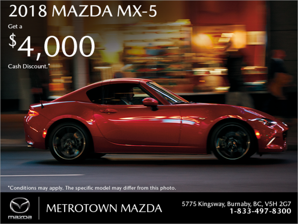 Get the 2018 Mazda MX-5 today!