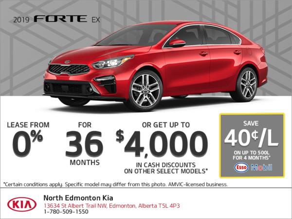 Lease the 2019 Kia Forte!