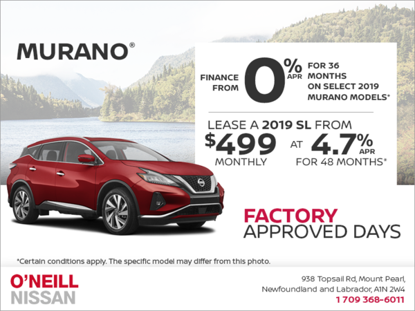 Get a 2019 Murano Today!