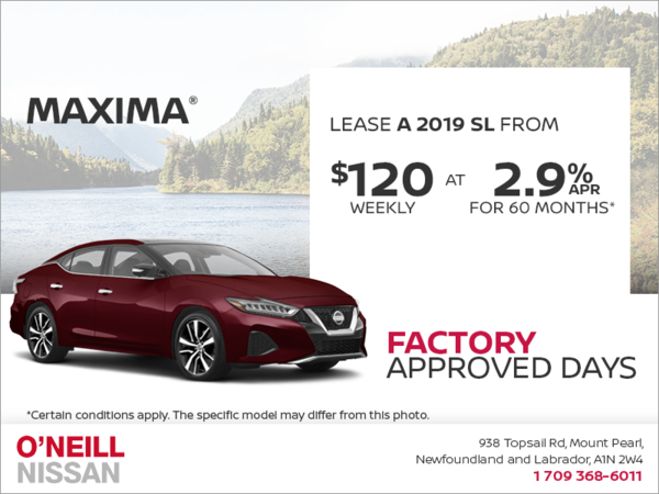 Get a 2019 Nissan Maxima Today!