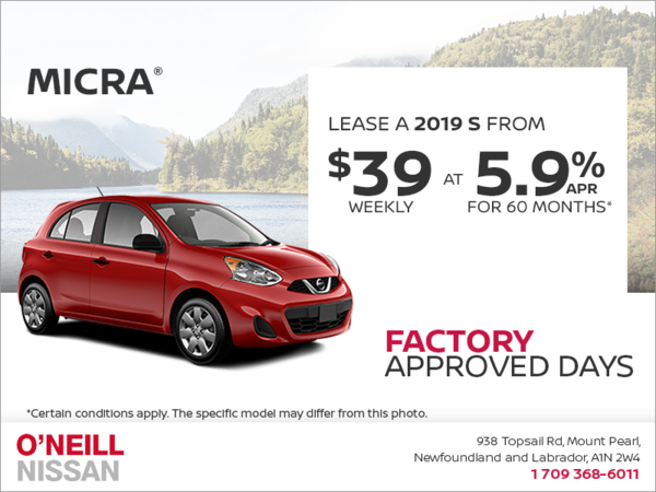 Get a 2019 Nissan Micra Today!