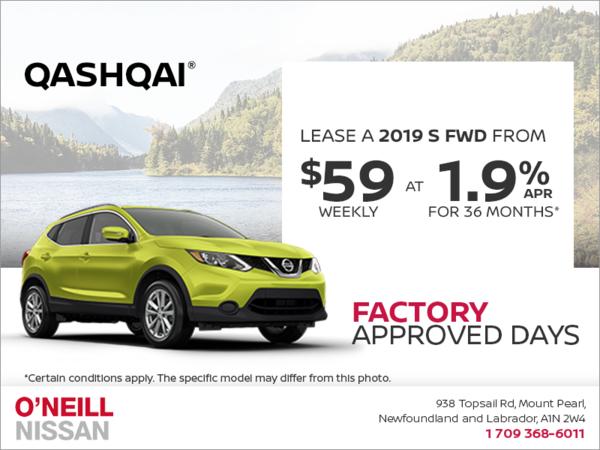 Get a 2019 Nissan Qashqai Today!