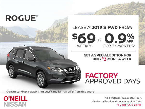 Get a 2019 Nissan Rogue Today!