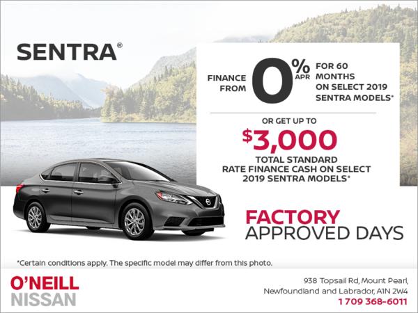 Get a 2019 Sentra Today!