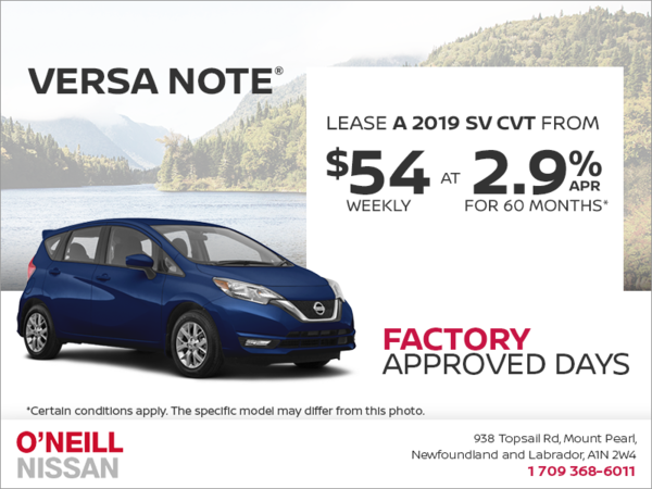 Get a 2019 Versa Note Today!