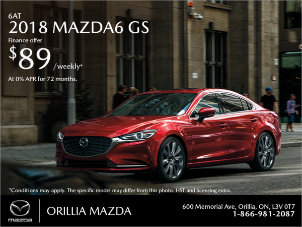 Orillia Mazda - Get the 2018 Mazda6 Today!