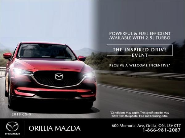 Orillia Mazda - The Inspired Drive event