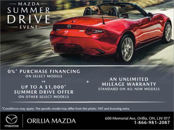 Orillia Mazda - The Mazda Summer Drive Event