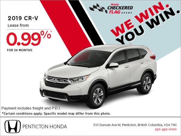 Get the 2019 Honda CR-V Today!
