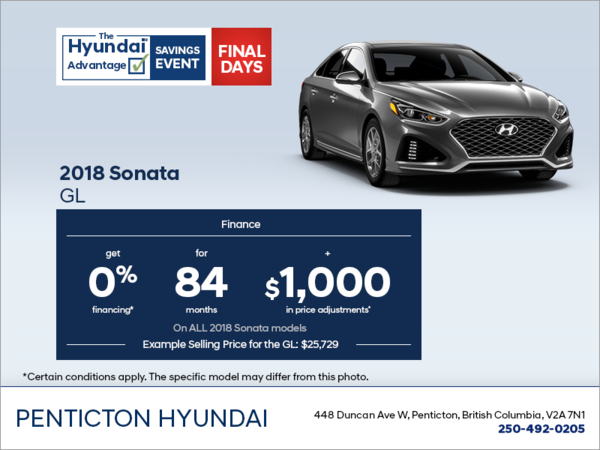 Finance the 2018 Sonata!