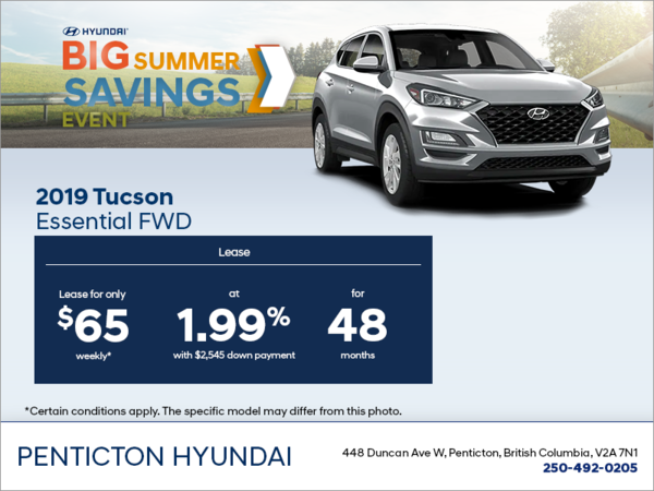 Lease the 2019 Tucson!