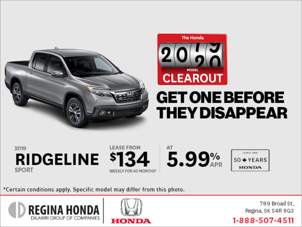 Lease a 2019 Honda Ridgeline Today!