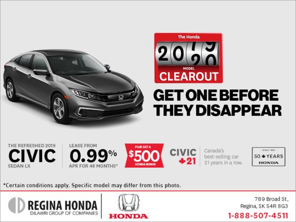 Lease the 2019 Honda Civic Sedan Today!