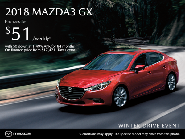 Regina Mazda - Get the 2018 Mazda3 today!