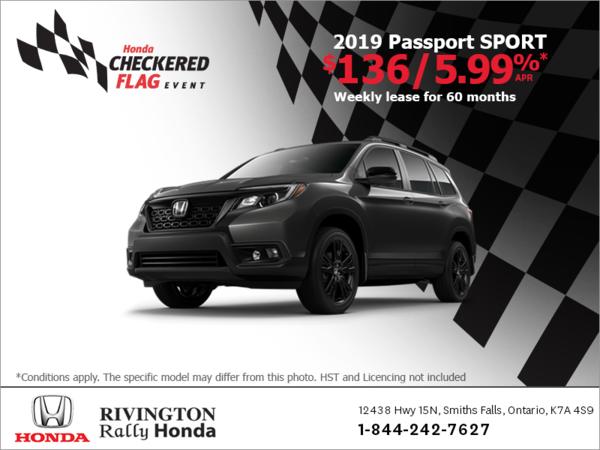 Lease the 2019 Honda Passport!